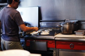 sharon making roti