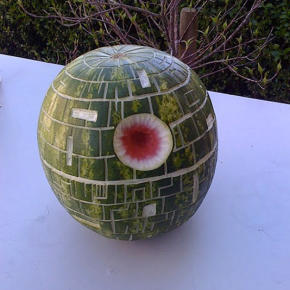 Yes that's a Death Star watermelon.
