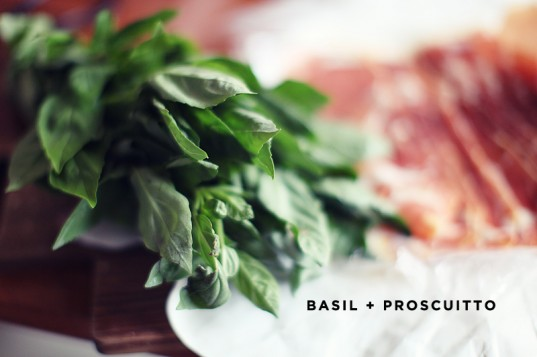 Basil & proscuitto