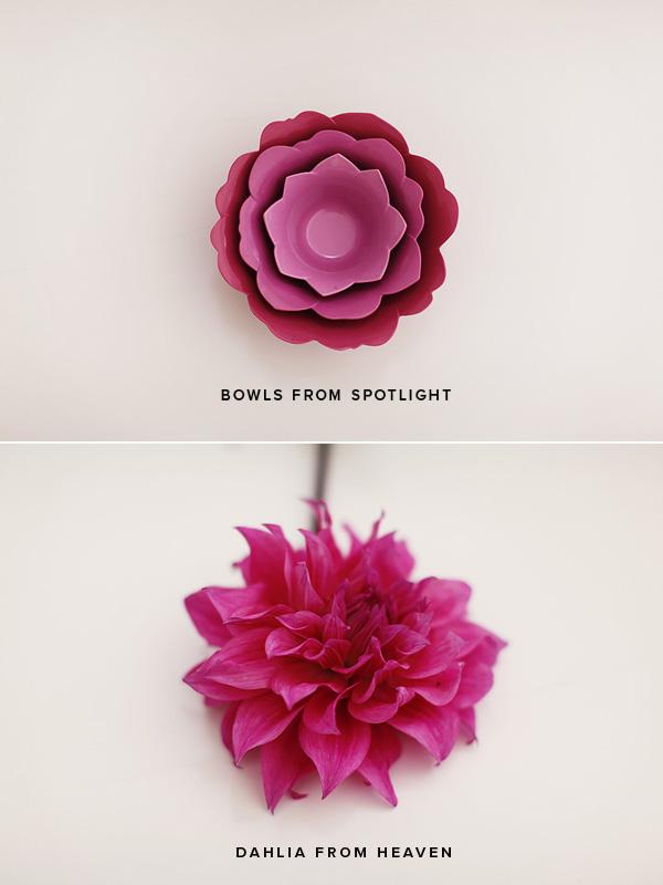 A bowl. A flower.