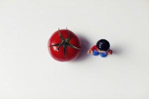 A random tomato & a lego man