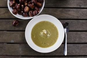 pistachio & asparagus soup