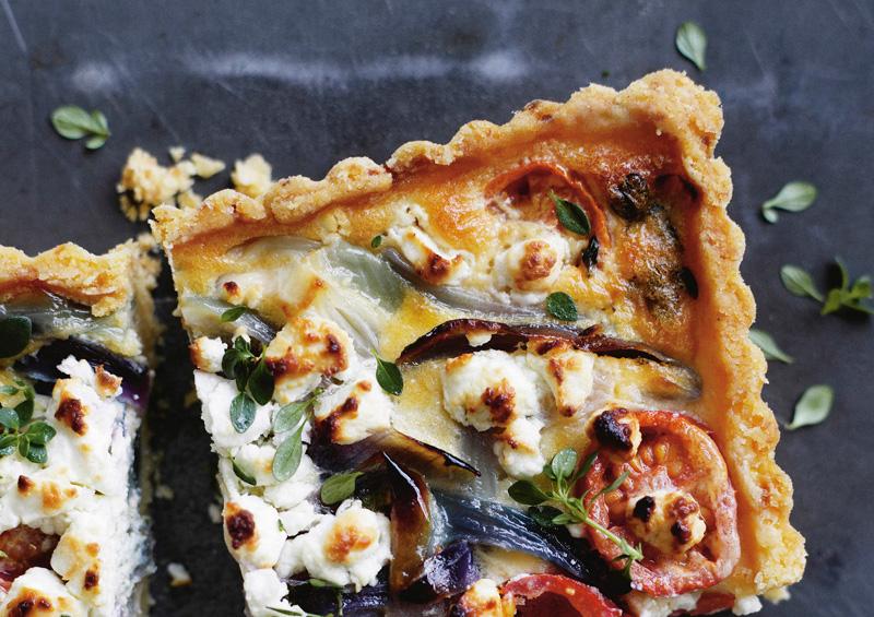 Rowie Dillon: tomato, onion, goats cheese tart