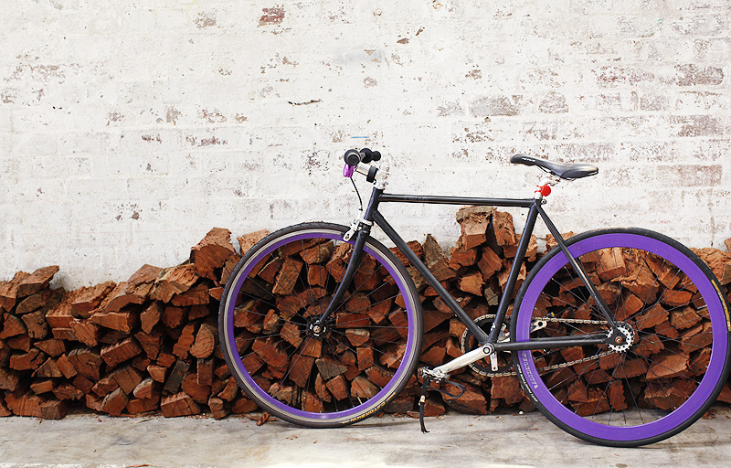 A cool purple bike